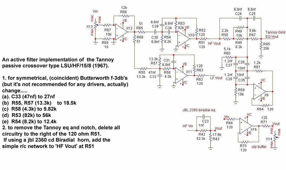 tannoy rh hilberink nl 3 way active crossover schematic diagram