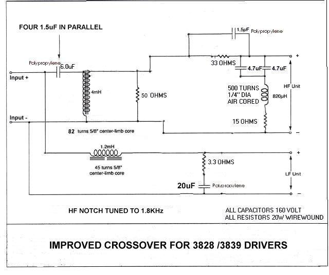 Modifica Crossover Tannoy 3809 Improvedxover